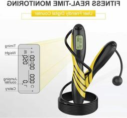 Jump Rope Digital Counting With Calorie Counter For Fitness,