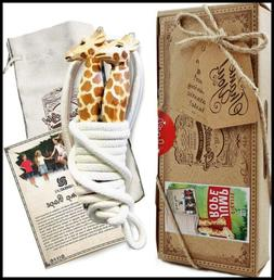 AGREATLIFE Jump Rope For Kids W Activity Book Unique Giraffe