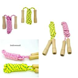 Jump Rope For Kids Wooden Handle Fitness Equipment Skipping
