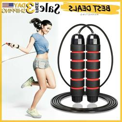 Jump Rope Gym Aerobic Exercise Boxing Skipping Adjustable Sp