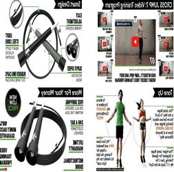 Jump Rope Skipping Rope for Workout and Speed Skip Training