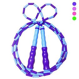 Exa Jump Rope Skipping Rope Soft Beaded Segment Jump Rope,Ta