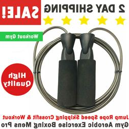 Jump Rope Speed Skipping Crossfit & Workout Gym Aerobic Exer