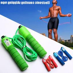 Sports Fitness Jump Rope Adjustable Fast Speed Electronic Co