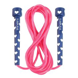 Inventiv Kids Jump Rope, Cute Colorful Designs, 9ft Adjustab