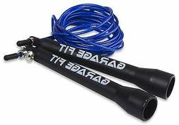 Garage Fit Jump Ropes For Men Or Women - Adjustable Wire Cab