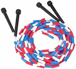 K-Roo Sports 16-Feet Double Dutch Jump Ropes with Plastic Se