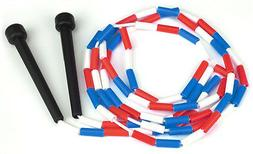K-Roo Sports New 7- Foot Jump Rope With Plastic Segments Red
