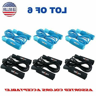 Lot of 6 - MaxxMMA Advanced Adjustable Jump Rope, Color Choi