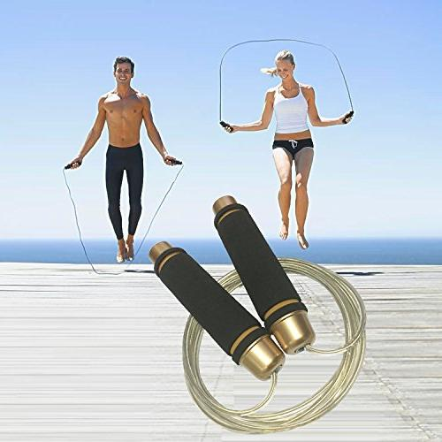 YZLSPORTS Steel Jump Fitness Factor Ergonomic,Durable,Easy Adjust Premium Rope All Levels,ed