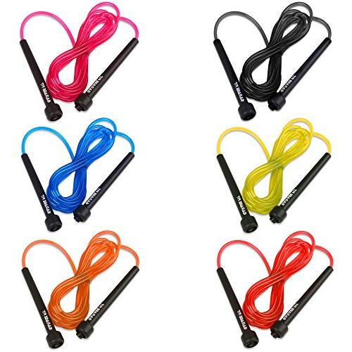 Garage Adjustable PVC Cardio Versatile Jump Rope for Both Kids and Adults - Great Rope for Exercise