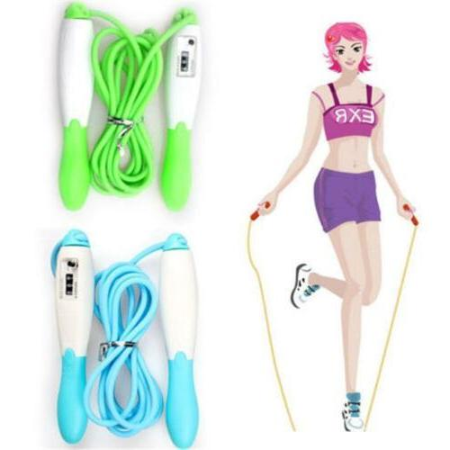 adults skipping jump speed rope with counter