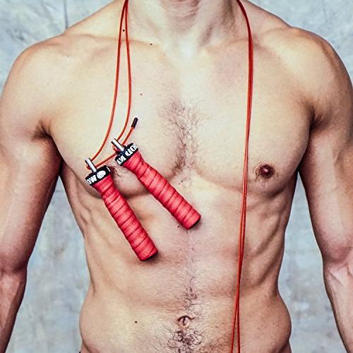 WOD Nation Attack Speed Jump Rope by Adjustable Jumping Ropes - Unique 2 Workout - 1 Heavy 1 11' for Double Unders - Fits Women
