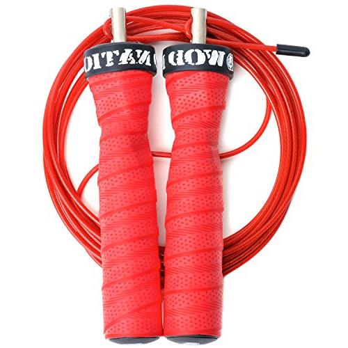WOD Nation Attack Speed Jump Rope Adjustable Jumping Ropes Unique Skipping Workout System Heavy and 1 11' Cable Perfect for Fits Men and Women