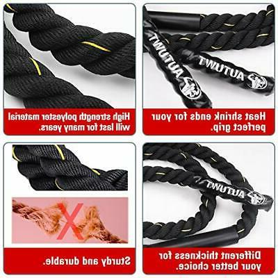 """AUTUWT Heavy Skipping Rope Ropes 1"""" 9.2ft"""