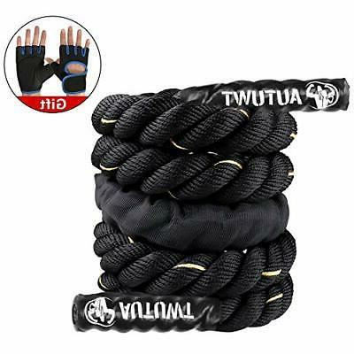 AUTUWT Jump Skipping Ropes 9.2ft black