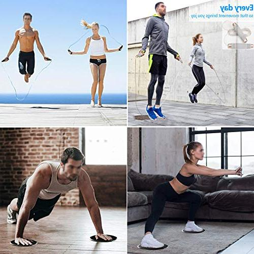 Sided Use Carpet or Hardwood Floors. Exercise Jump Rope 2 Training Muscles and Abdominal Muscles。