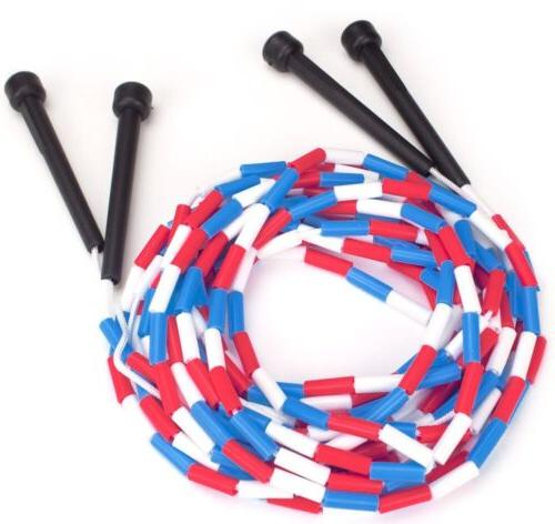 2-16 FT DOUBLE DUTCH JUMP ROPES-2-LONG-SPEED-BLUE-SCHOOL-CLOTH-COMPETITION-MOVIE