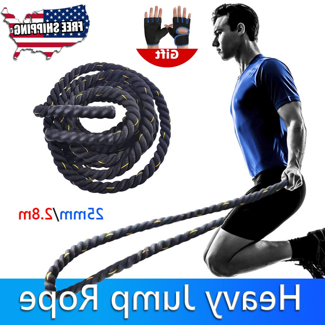 fitness heavy jump rope skipping battle workout
