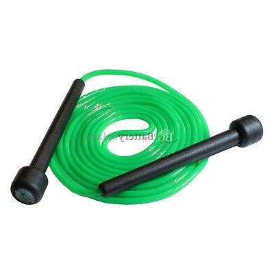 NEW Green 9FT Plastic Handle Skipping Jump Rope Boxing Exerc
