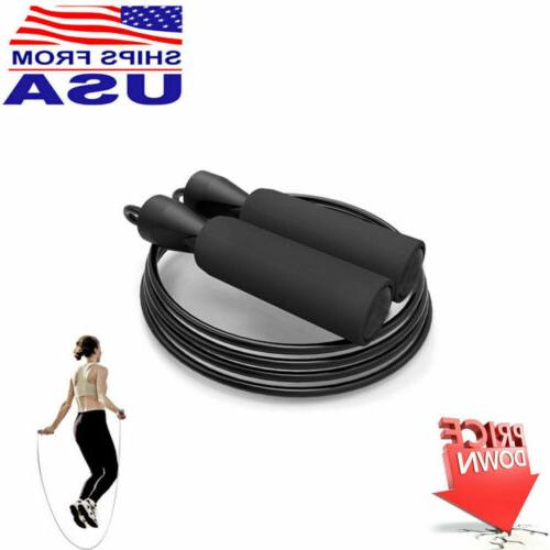 Gym Aerobic Rope Adjustable Steel Fitness Exercise
