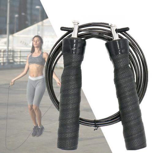 Gym Boxing Jump Rope Adjustable Cable Ball Bearing Fitness
