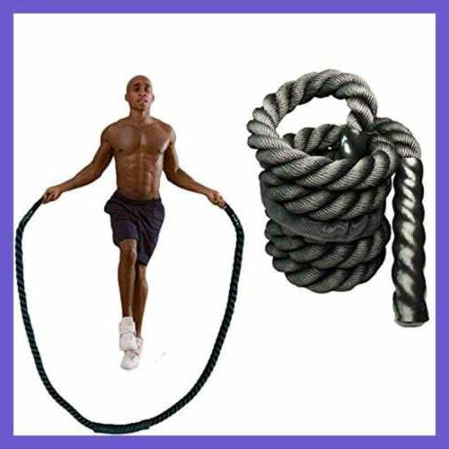 YZLSPORTS Heavy Weighted Jump Rope Battle Ropes Men Women T