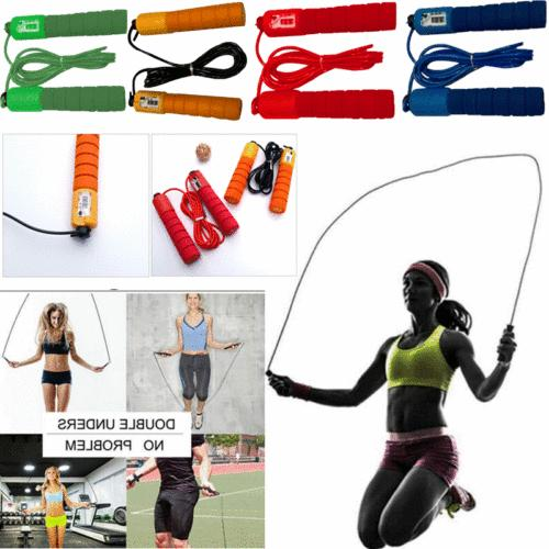 Jump Rope With Counter Exercise Boxing Gym Fitness Workout A