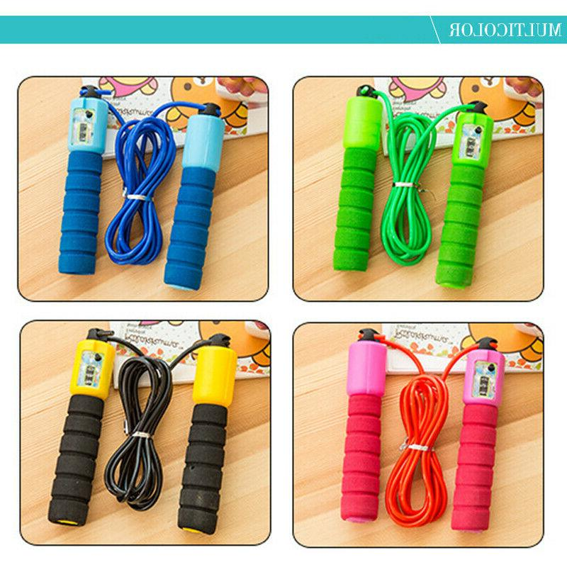 Jump Rope Counter Fitness Exercise Skipping Adults Kids US_