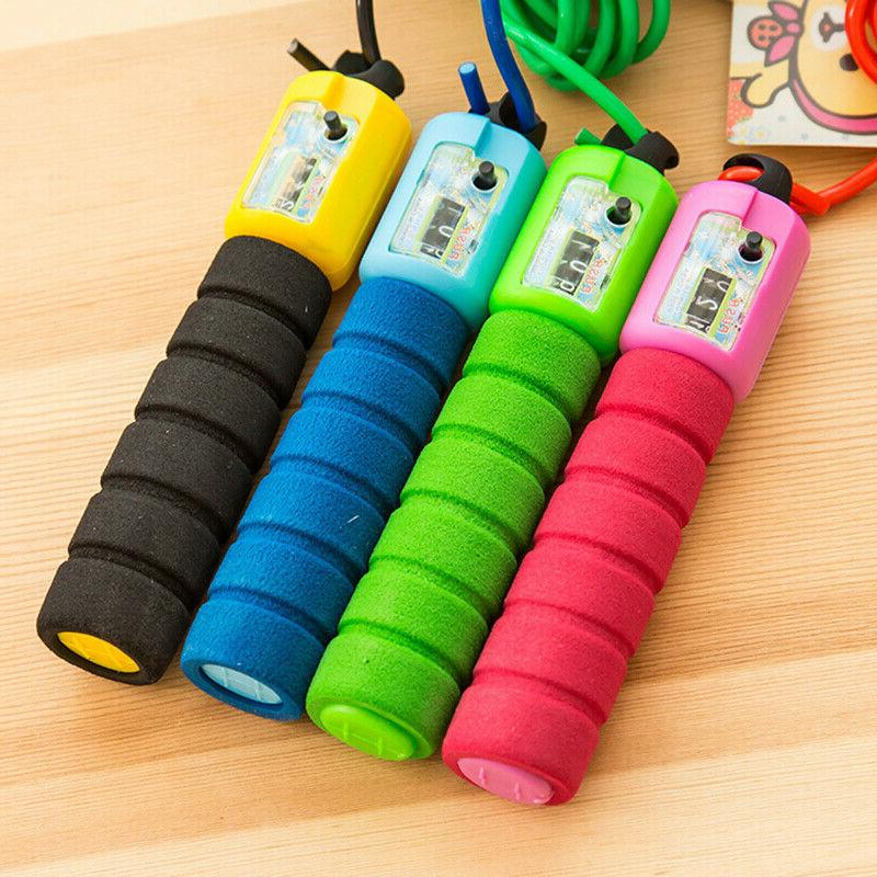 Jump Rope Counter Gym Fitness Skipping Adults Kids
