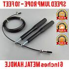 Jump Rope Cross Training Skipping High Speed 10'Feet Wire Ad