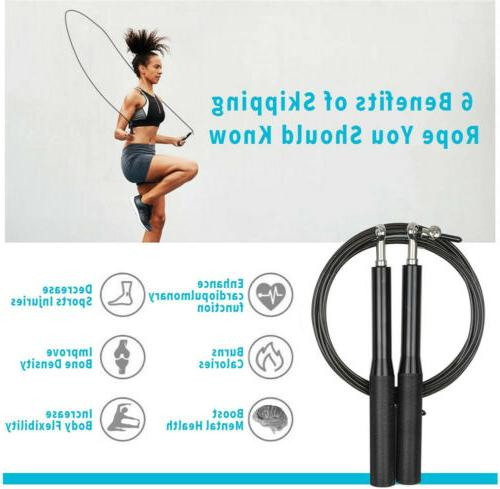Jump Rope Boxing Weighted Beaded Fitness Gym