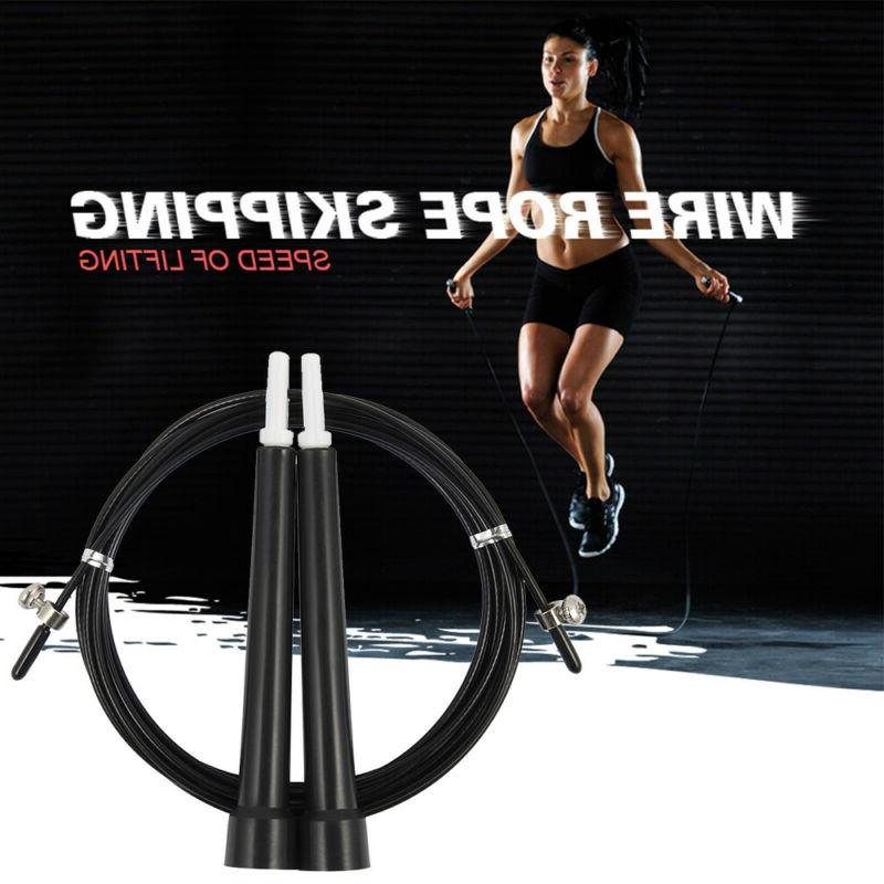 10ft Adjustable Speed Jump Rope Aerobic Exercise Skipping We