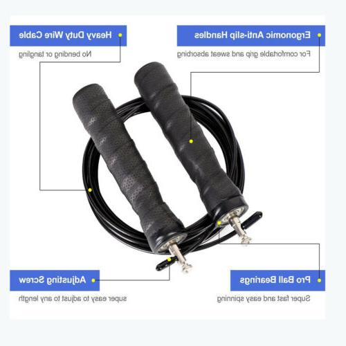 Gym Skipping Rope Adjustable Cable Length Ball Bearing