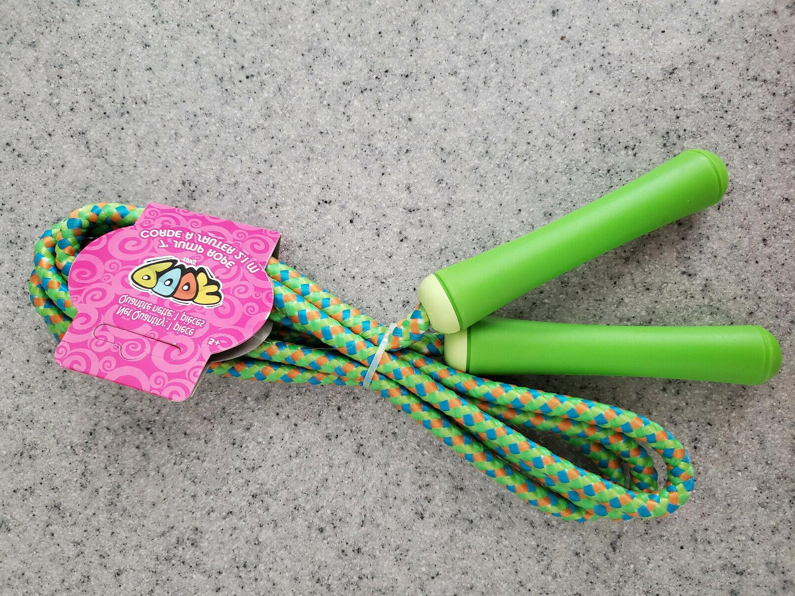 NEW Poof Jump Rope, Pink, Green, Blue, Exercise
