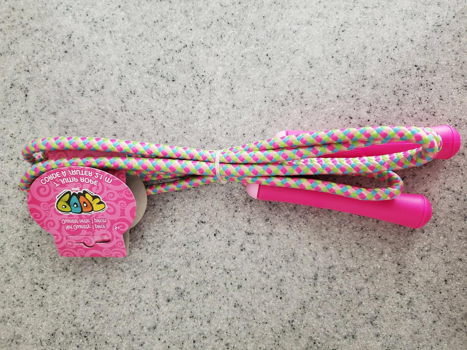 NEW Toys 7ft Jump Rope, Pink, Green, PE Exercise