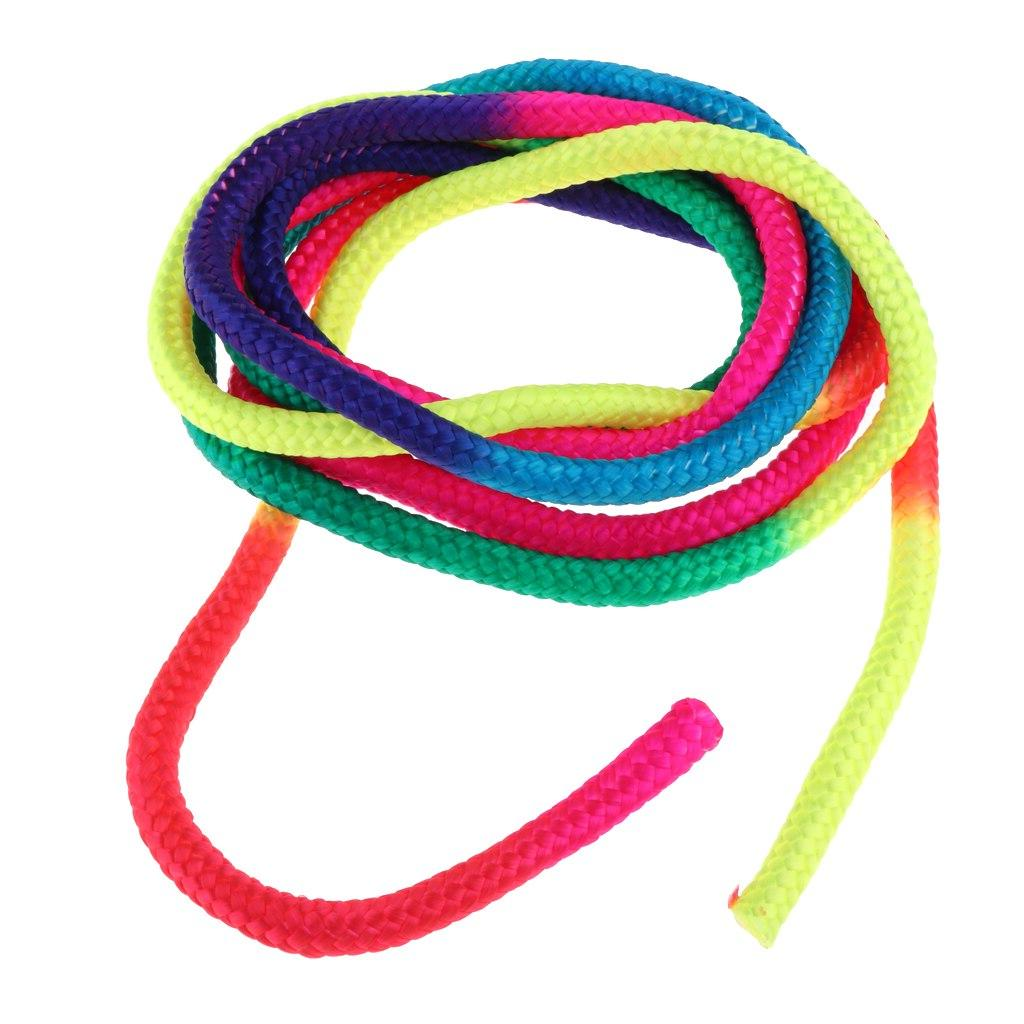 Rainbow Artistic Rope Fitness Training Rope <font><b>Jump</b></font> Ropes Sports