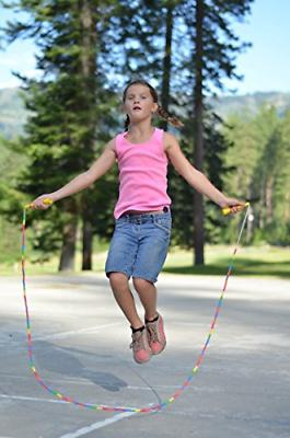 BuyJumpRopes Segmented Rope - Beaded Playground Rope Kids with and
