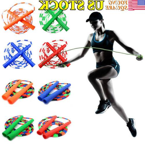 Soft Plastic Segmented Jump Rope Tangle Training Fitness For