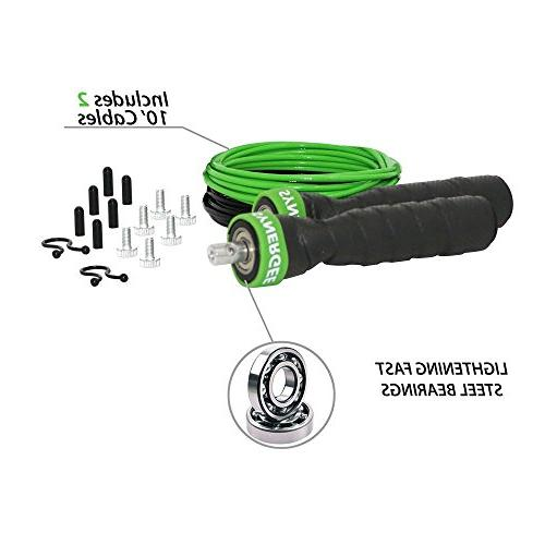 iheartsynergee Electric Rope - for Boxing Speed Adjustable Ft Cables Ball Bearings