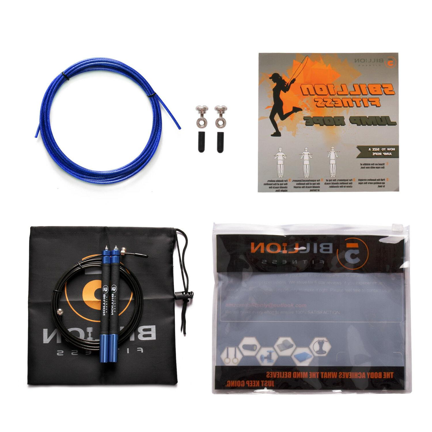 5 BILLION  Ultra-speed Jump Rope Skipping Rope Dual Bearings