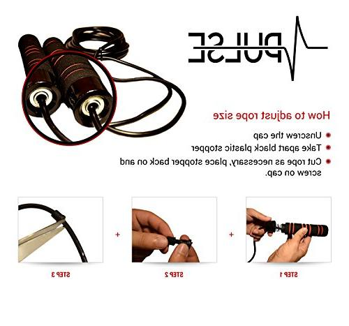 Weighted Pulse Memory Handles and Thick Cable For boxing and MMA endurance Fitness Jumping Exercise