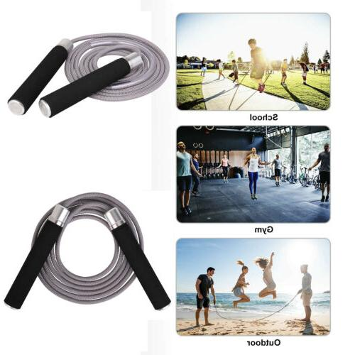 Weighted Jump Rope Speed Skipping Ropes for Pro Sports Boxin