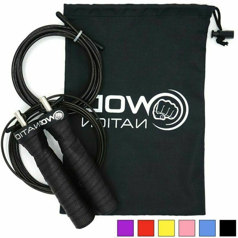 Wod Nation Attack Speed Jump Rope - Adjustable Jumping Ropes