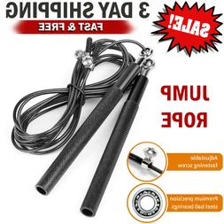 RDX Pro Leather Fitness Skipping Speed Rope Adjustable Jumpi