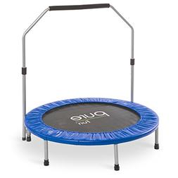 Pure Fun 40-inch Exercise Trampoline with Handrail