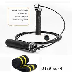 MMA Boxing Training High Speed Jump Rope Adjustable with Bal