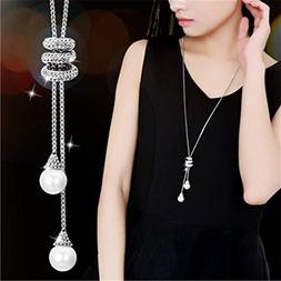 Sinfu® Necklace For 1PC Ladies Fashion Charm Crystal Pearls