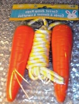 NEW Nylon Jump Rope, 7+ foot ~ EASTER CARROT Handles Really