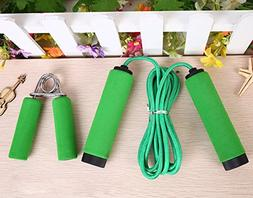 TeTyLife One Hand Grip and One Jump Rope Home Fitness Set Gy